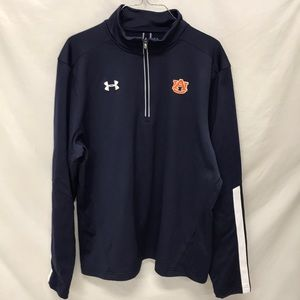 AUBURN 1/4 ZIP UNDER ARMOUR JACKET